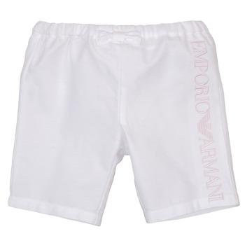 Kleidung Mädchen Shorts / Bermudas Emporio Armani Aniss Weiss