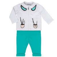 Kleidung Mädchen Kleider & Outfits Emporio Armani Aubin Weiss / Blau