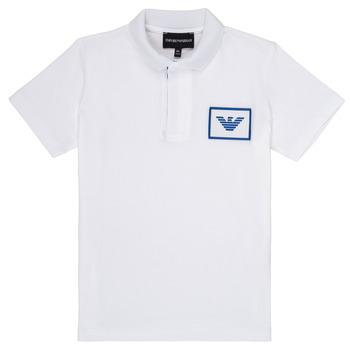 Kleidung Jungen Polohemden Emporio Armani Aime Weiss