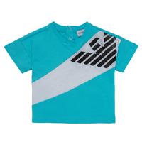 Kleidung Jungen T-Shirts Emporio Armani Alois Blau / Weiss