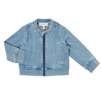 Kleidung Jungen Jacken / Blazers Emporio Armani Alfred Blau