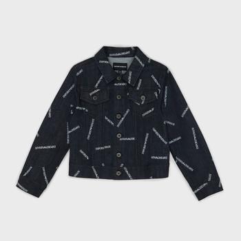 Kleidung Jungen Jeansjacken Emporio Armani Angelo Blau