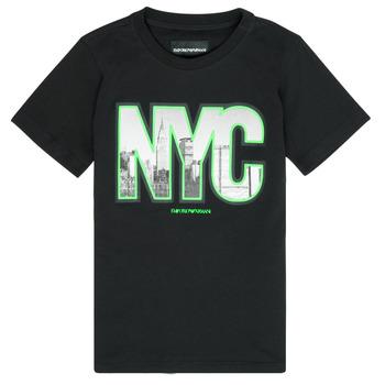 Kleidung Jungen T-Shirts Emporio Armani Ambroise Schwarz
