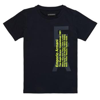 Kleidung Jungen T-Shirts Emporio Armani Andoni Marine