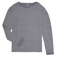 Kleidung Mädchen Langarmshirts Only KONNELLY Weiss / Marine