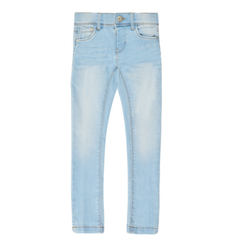 Kleidung Mädchen Slim Fit Jeans Name it NMFPOLLY DNMCILLE Blau