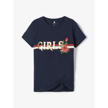 Kleidung Mädchen T-Shirts Name it NKFBARBRA Marine