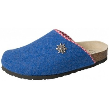 Schuhe Hausschuhe Weeger Filz-Hausschuh Art. 41545-31 kobalt