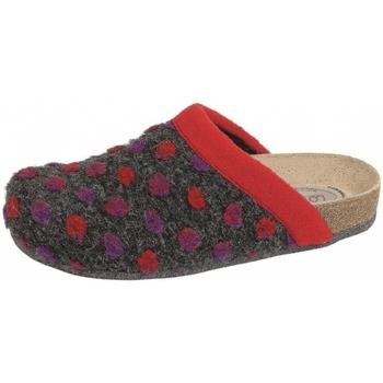 Schuhe Damen Hausschuhe Weeger HausschuhArt. 48014-60 PUNTO rot/schwar