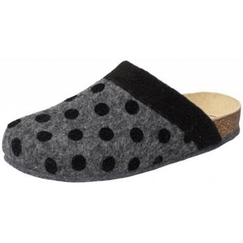 Schuhe Damen Hausschuhe Weeger HausschuhArt. 48014-20 PUNTO anthrazit/schwarz