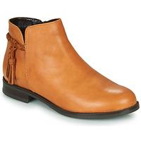 Schuhe Damen Boots André MILOU Camel