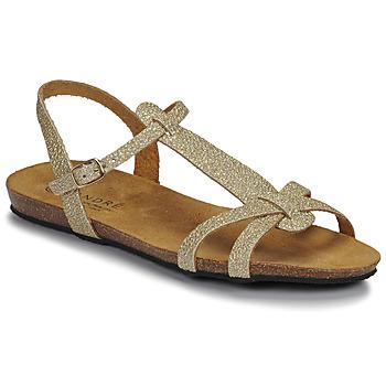 Schuhe Damen Sandalen / Sandaletten André BORA Gold