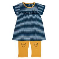 Kleidung Mädchen Kurze Kleider Noukie's AYOUB Blau / Gelb