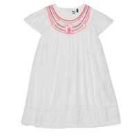 Kleidung Mädchen Kurze Kleider 3 Pommes LAURA Weiss