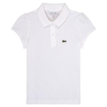 Kleidung Mädchen Polohemden Lacoste CAYDEN Weiss