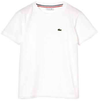 Kleidung Jungen T-Shirts Lacoste NAE Weiss