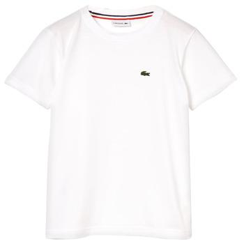 Kleidung Jungen T-Shirts Lacoste ALIZE Weiss