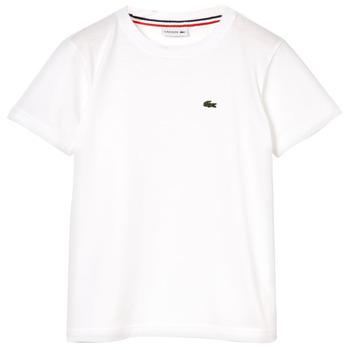 Kleidung Jungen T-Shirts Lacoste APAULINE Weiss