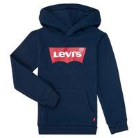 Kleidung Jungen Sweatshirts Levi's BATWING SCREENPRINT HOODIE Marine