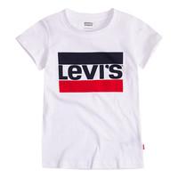 Kleidung Mädchen T-Shirts Levi's SPORTSWEAR LOGO TEE Weiss