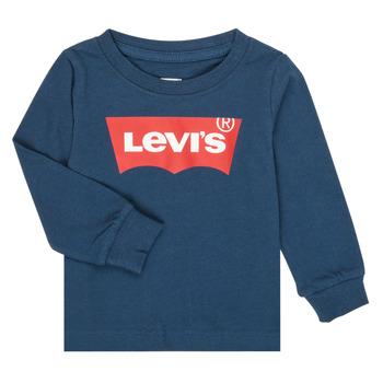 Kleidung Jungen Langarmshirts Levi's BATWING TEE LS Marine