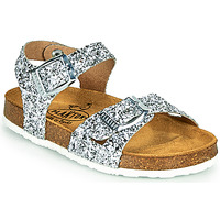Schuhe Mädchen Sandalen / Sandaletten Plakton LISA Silbern