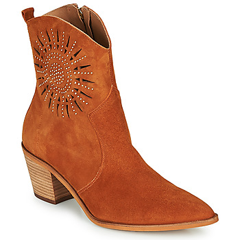 Schuhe Damen Low Boots Fericelli MEYLIA Cognac