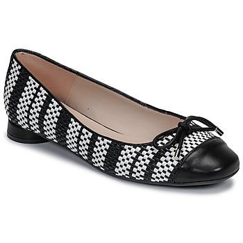 Schuhe Damen Ballerinas Fericelli MARYA Schwarz / Schattengrau / Weiss
