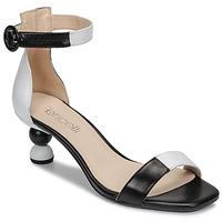 Schuhe Damen Sandalen / Sandaletten Fericelli MARC Schwarz / Schattengrau / Weiss