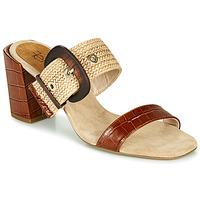 Schuhe Damen Pantoffel Fericelli MARCO Beige