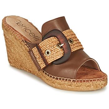 Schuhe Damen Pantoffel Fericelli MELISSA Cognac