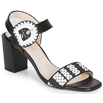 Schuhe Damen Sandalen / Sandaletten Fericelli MAIRA Schwarz / Schattengrau / Weiss