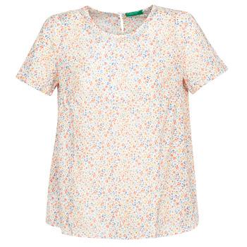 Kleidung Damen Tops / Blusen Benetton DANIEL Weiss / Multicolor