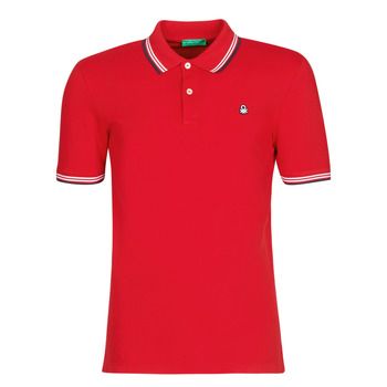 Kleidung Herren Polohemden Benetton GUERY Rot