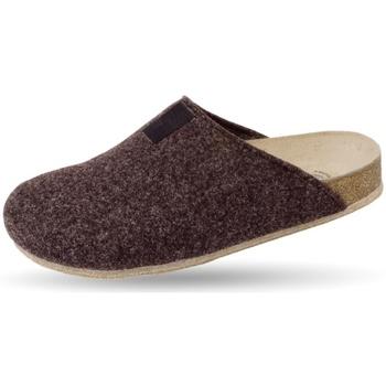 Schuhe Hausschuhe Weeger Hausschuh Art. 48017-40 TWEED braun