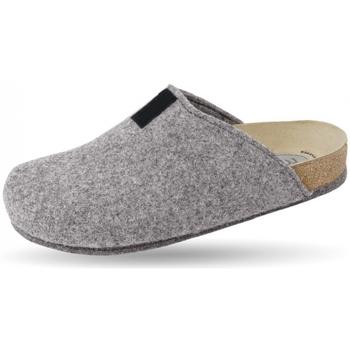 Schuhe Hausschuhe Weeger Hausschuh Art. 48017-50 TWEED grau