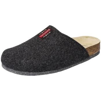 Schuhe Hausschuhe Weeger Hausschuh Art. 48017-23 TWEED anthrazit