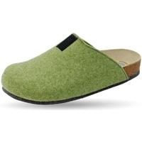 Schuhe Hausschuhe Weeger Hausschuh Art. 48017-70 TWEED lind