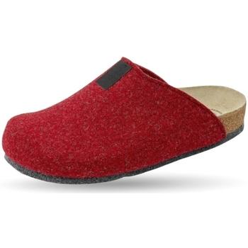 Schuhe Hausschuhe Weeger Hausschuh Art. 48017-60 TWEED rot