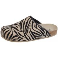 Schuhe Hausschuhe Weeger Hausschuh Art. 48013-99 Zebra Zebra