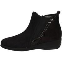 Schuhe Damen Ankle Boots Davema 74224 BLACK