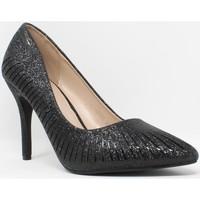 Schuhe Damen Pumps Bienve Zeremonie Dame  18476 schwarz Schwarz