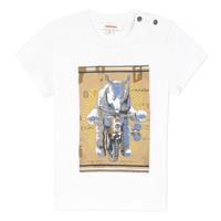 Kleidung Jungen T-Shirts Catimini LARIBI Weiss