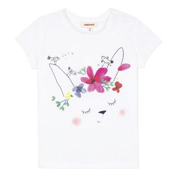Kleidung Mädchen T-Shirts Catimini MAE Weiss