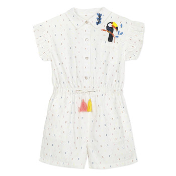 Kleidung Mädchen Overalls / Latzhosen Catimini LUCIUS Weiss