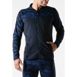 Kleidung Herren Trainingsjacken Code 22 Sportjacke Urban Camo navy Code22 Blau Marine