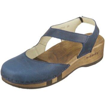 Schuhe Damen Sandalen / Sandaletten Woody Sandaletten Nicole 16542 av avion Fettleder 16542 av blau