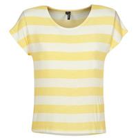 Kleidung Damen T-Shirts Vero Moda  Gelb / Weiss