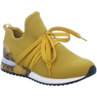 Schuhe Damen Sneaker Low La Strada Schnuerschuhe 1804297 ocre gelb