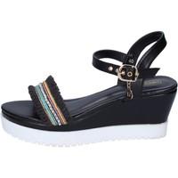 Schuhe Damen Sandalen / Sandaletten Enrico Coveri BP389 schwarz
